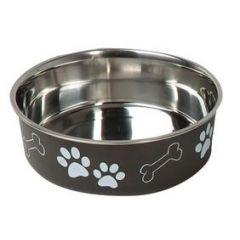 Edelstahl Hundenapf Bella mit Pfotenmotiv